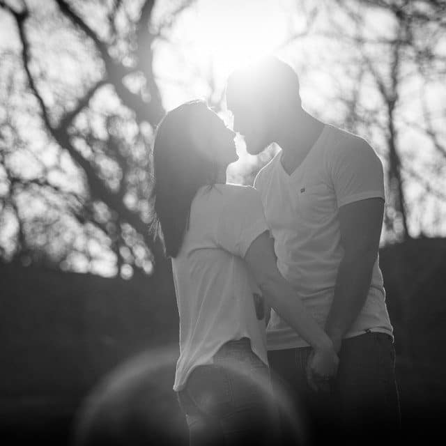 An image from Jon & Shannon's engagement session at Hubbard Park in Meriden, CT.