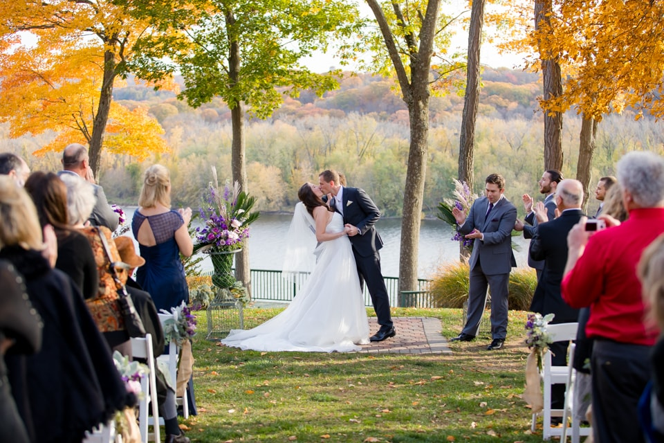 What A Beautiful New England Fall Wedding At St Clements Castle It Was Crisp 55 Degrees But That Didn T Stop Adam Emily From Getting Married Over